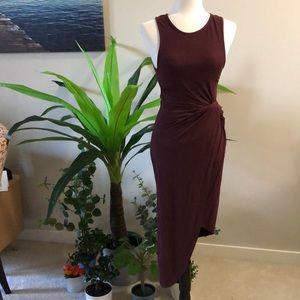 NWT: Wine coloured Black Swan Bodycon fit dress XS